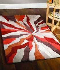 burnt orange rug. Orange Splinter Designer Rug 80x150 Cms - A Beautiful Rich And Warm Colour Rug, Looks Burnt N