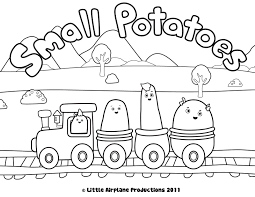 Train Coloring Pages Small Potatoes Coloring