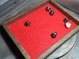 and the dice tray is done quite a simple and quick built of course the painting was not entirely necessary and neither was the plasticard back plate