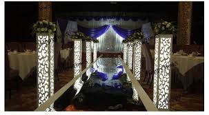details about 8 sets luxury wedding party event pillars with carved design and free led light