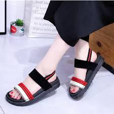 2019 <b>summer new</b> college <b>wild flat</b> bottom Roman sandals student ...