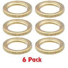 3 4 brass light fixture knurled lock nut 1 4 ips 5 pack