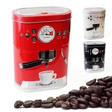 Retro Kitchen Storage Jars Designer Retro Coffee Machine Tin Jar Tea Cake Biscuit Kitchen
