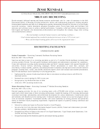 Beautiful Army Recruiter Resume Bullets Photos Entry Level