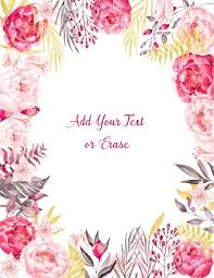 Free Floral Backgrounds Free Watercolor Floral Background Customize Online Many Designs