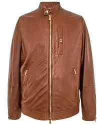 brunello cucinelli cigar leather er jacket