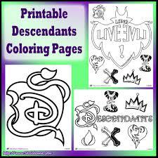 Free Disney Descendants Coloring Pages Skgaleana