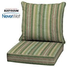 allen roth neverwet 2 piece stripe green deep seat patio chair cushion