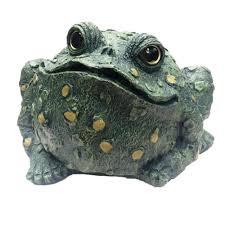 jumbo toad collectible garden frog statue