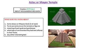 Mesoamerica Civilizations Create A Tri Fold Presentation Board