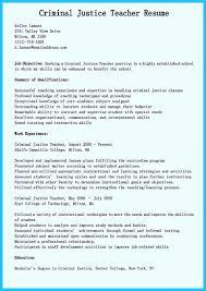 Criminal Justice Resume Resume Work Template