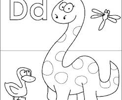 Letter D Printable Coloring Pages In Free Colors Kids Letter D