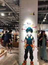 Height Chart At Jump Shop In Umeda Bokunoheroacademia