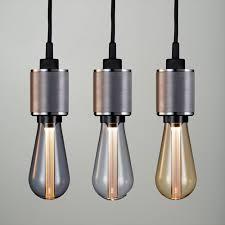 St64 Modern Style Edison Bulb E27 Smoked Grey Gold Crystal Led Bulb X 2