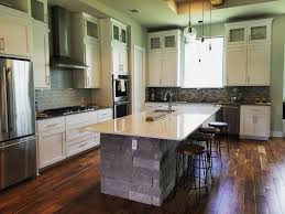 a completed custom kitchen floor plan and design for a new home built in austin