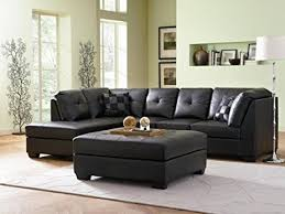 black leather couch. Amazon Com Contemporary Black Leather Sectional Sofa Left Side Intended For Remodel 0 Couch