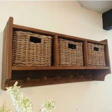 Coat Rack With Storage Baskets Interesting Sustainable Furniture UK Reclaimed Teak Coat Hook Storage Unit