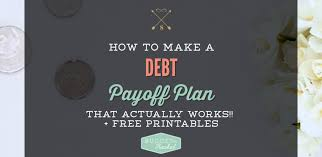 How To Make A Debt Payoff Plan Budget With Rachel