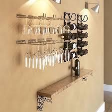 wine glass rack stemware under cabinet holder hanging bar wall mount hanger 2 pc