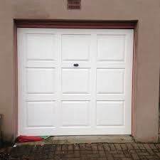 white 6 foot by 6 foot garage door