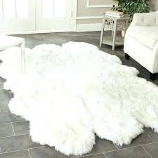 faux fur rug caramel white sheepskin long blanket decorative blankets bed carpet