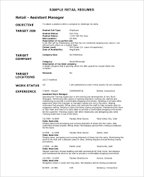 Retail Resume Objective Examples Resume Objective Example 10 Samples In Word Pdf