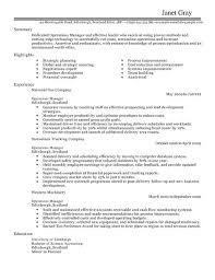 Operations Resume Template Best Of Operations Manager CV Example For Management LiveCareer
