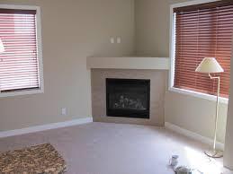 nice looking corner fireplace decor for home interior design idea