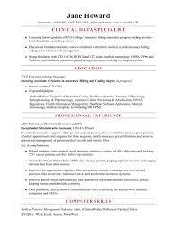 Data Entry Resume Examples Luxury Clinical Codingalist Resume