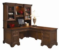 l shaped computer desk and return with hutch