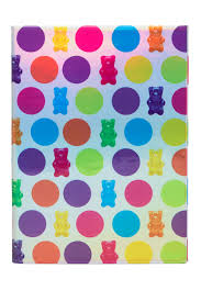 image of iscream gifts polka dot gummy bears holographic journal