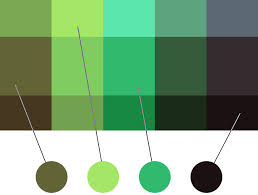 If you look on a color wheel green ...
