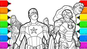 Choose your colors and patterns and click where you want to color. The Avengers Superhero Coloring Pages Youtube