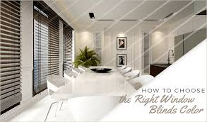 choose right window blinds color