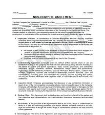 Nda Non Compete Template Non Compete Agreement Free Word Download Template