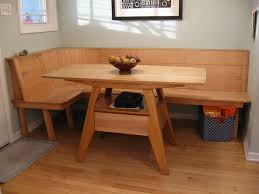 Maple wood kitchen table bench seat