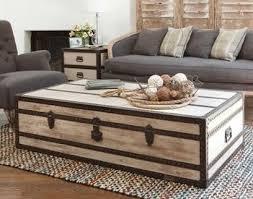 Elegant Reclaimed Wood Steamer Trunk Coffee Table #macysdreamfund Awesome Design