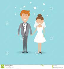 Cartoon Wedding Pictures Vector Royalty Free Stock Photos