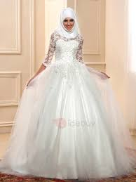 islam lace ball gown muslim wedding dress with sleeves tidebuy com