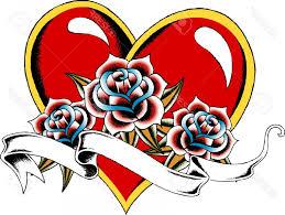 Heart And Ribbon Designs Heart And Ribbon Tattoo Designs Clipart Handandbeak