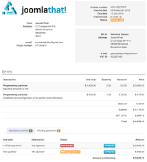 images of invoices invoice manager invoice billing creator manager joomlathat