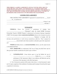 Contract Forms For Construction Contract Forms Exciting Construction Contract Forms Free Design