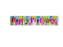Happy Birthday Balloons Banner Happy Birthday Balloons Holographic Banner At Rs 129 Piece