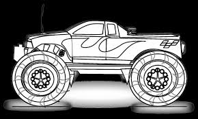 surprising monster truck coloring pages | dokardokarz.net
