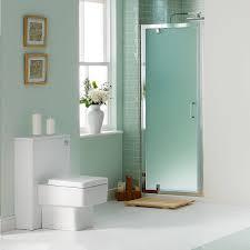 modern frosted glass shower doors