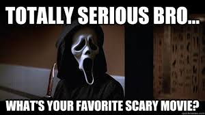 Totally-Serious-Bro-Whats-Your-Favourite-Scary-Movie-Funny-Meme.jpg via Relatably.com