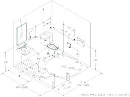 Accessible Bathroom Layout Set Cool Design