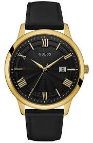 men s watch guess gold black leather strap w0972g2 e oro gr men s watch guess gold black leather strap w0972g2 e oro gr guess watches