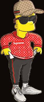 supreme bart simpson gucci