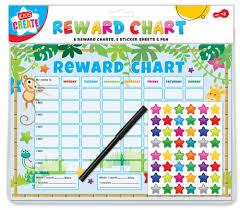 6 X Jungle Reward Charts With Stickers Pen